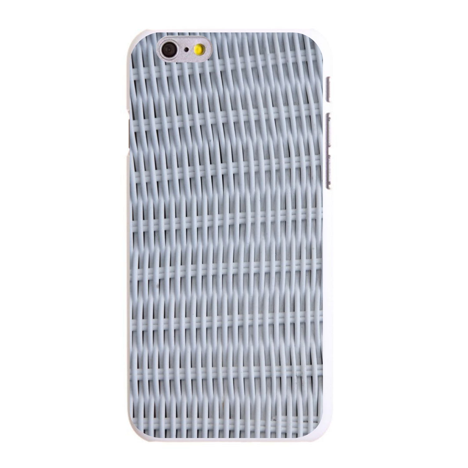 "CUSTOM White Hard Plastic Snap-On Case for Apple iPhone 6 / 6S (4.7"" Screen) - White Wicker Painted"