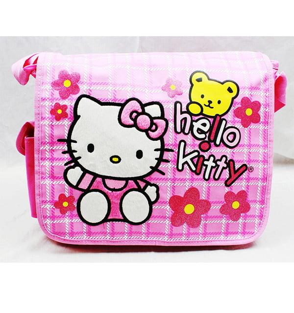 Messenger Bag Hello Kitty Teddy Bear w Flowers New School Book Bag 81611 by FAB Starpoint
