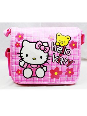 8d58054f39 Product Image Messenger Bag - Hello Kitty - Teddy Bear w Flowers New School  Book Bag 81611
