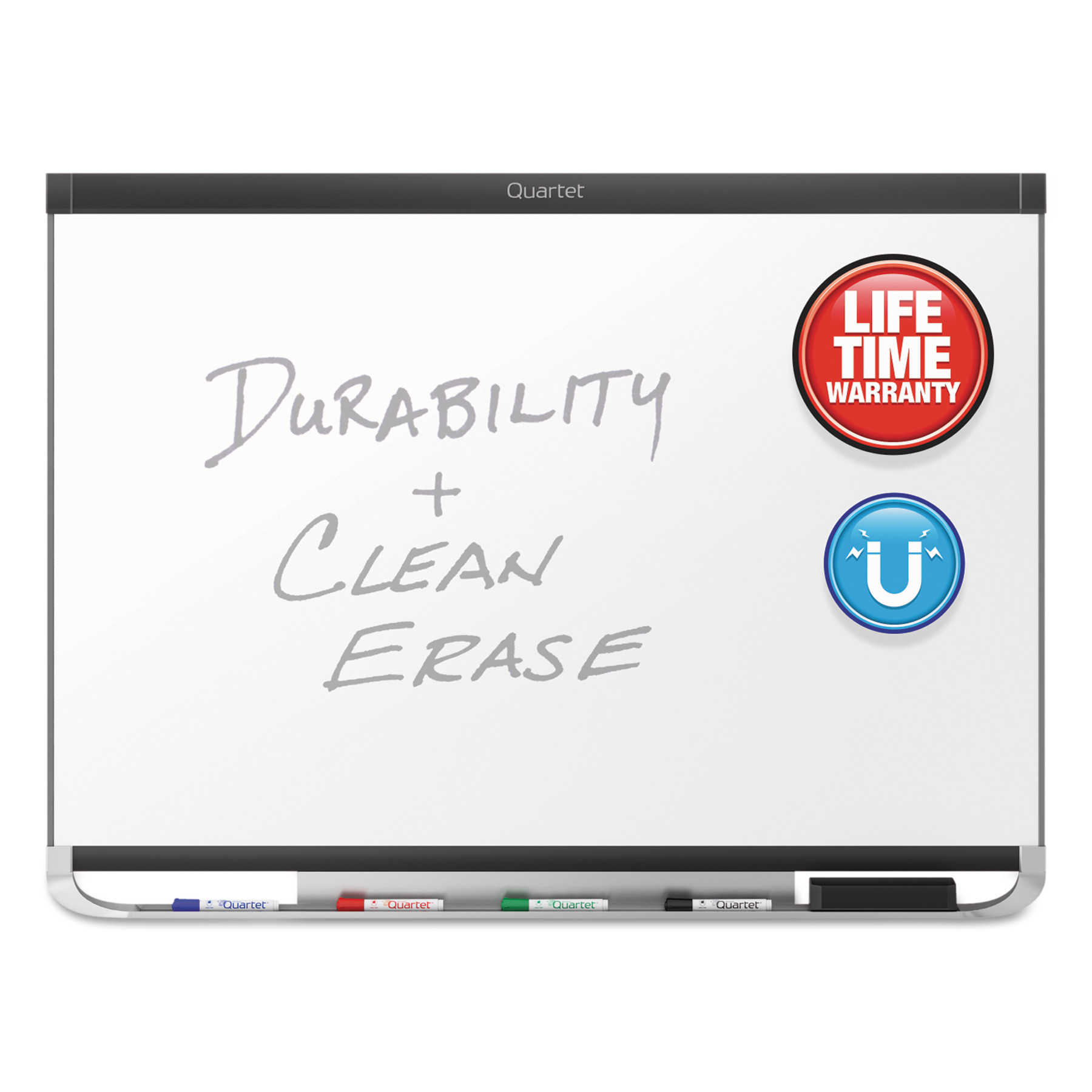 Quartet Prestige DuraMax Magnetic Porcelain Whiteboard, 72 x 48, Silver Frame by QUARTET MFG.