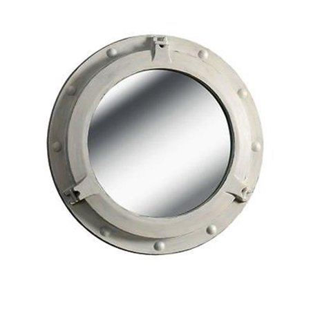 Kenroy Home 60047DW Starboard Round Wall Mirror - White - image 1 of 1