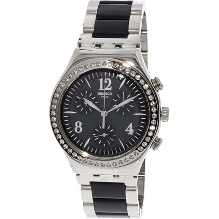 Swatch Made In Black YCS118G Silver Stainless-Steel Swiss Chronograph Fashion