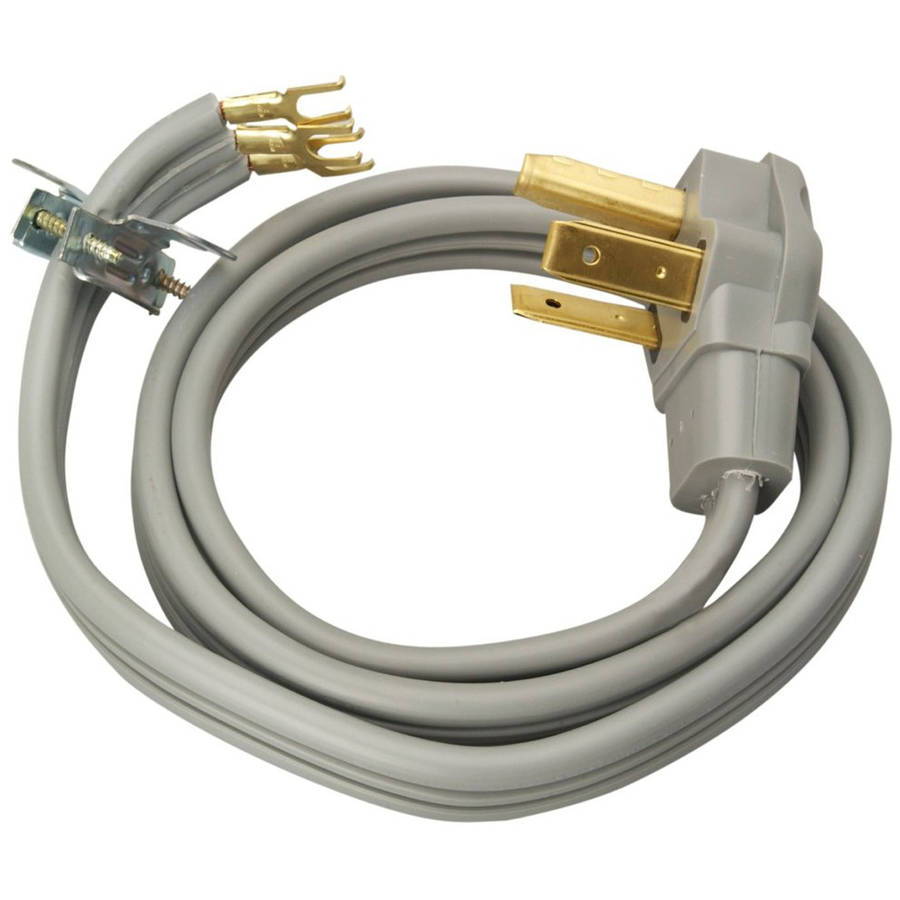 Coleman Cable 09126 10/3-Gauge SRDT 30-Amp Dryer Power Supply Cord, 6', 3-Wire, 125/250V