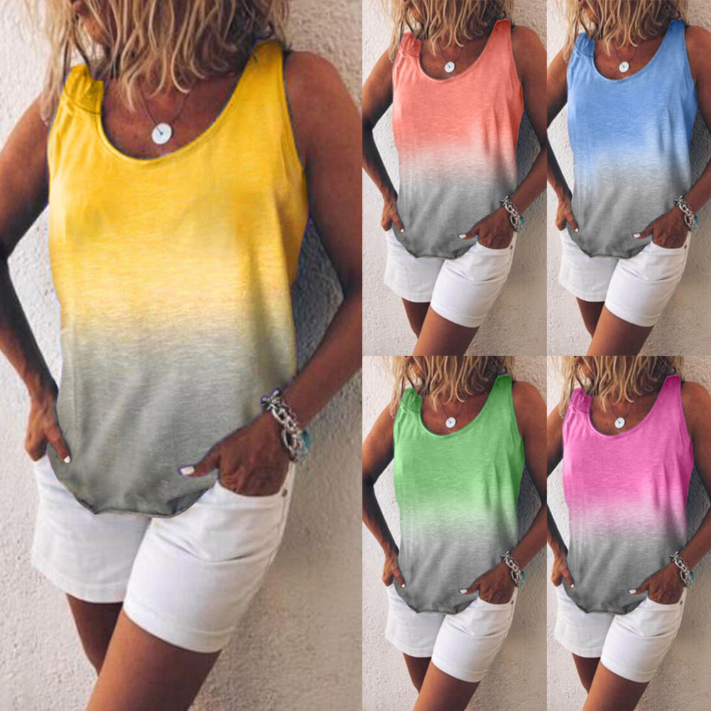 New Womens Ladies Girls Stretchy Colored Vest Top Summer Strappy Vest Plus Size