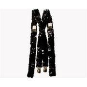Black Sequined Suspenders