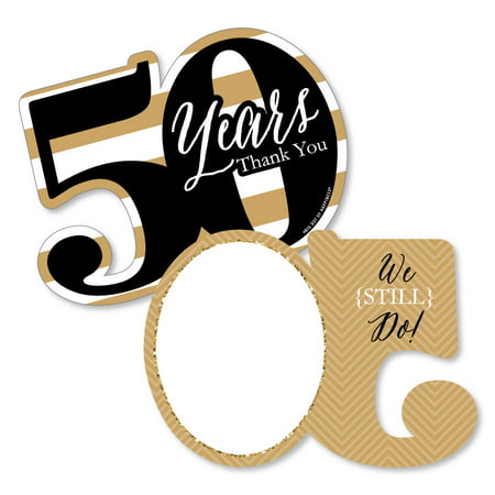 We Still Do - 50th Wedding Anniversary - Shaped Thank You Cards - Anniversary Party Thank You Note Cards with