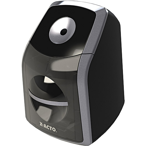 X-ACTO SharpX Classic Electric Pencil Sharpener, Black/Silver
