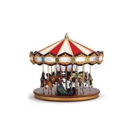 14 lighted musical christmas carousel decoration