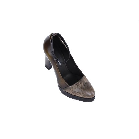 Brunello Cucinelli Women's Brown Leather Ankle Strap Pump