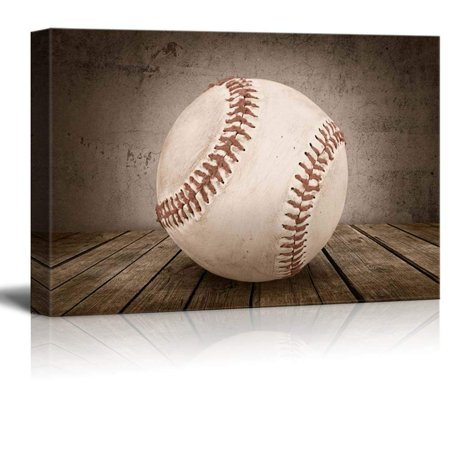 wall26 - Baseball Rustic Sport Panel - Canvas Art Wall Decor - - Baseball Wall Decor
