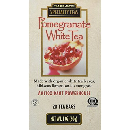 - Trader Joe's Pomegranate White Tea, 20 Tea Bags (Pack of 4)