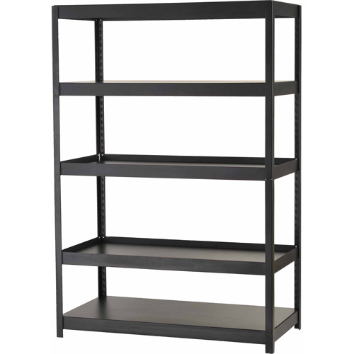 Edsal Muscle Rack 5-Shelf Steel Shelving Unit, Black, MR482472BLB