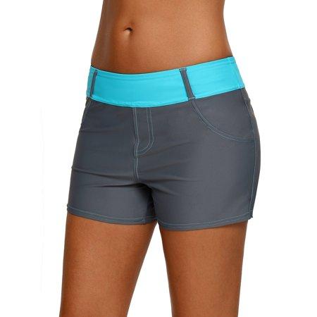 Ladies Women Swim Briefs Beach Shorts Tankini Bikini Bottoms Swimming Trunks S-3XL Bath Pant Swimwear Beachwear Solid
