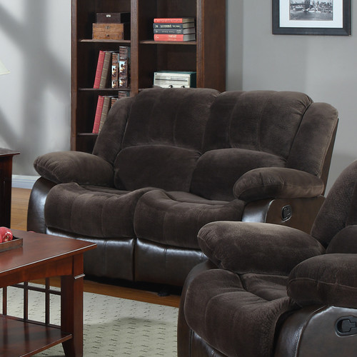 Nathaniel Home Aiden Motion Leather Reclining Loveseat