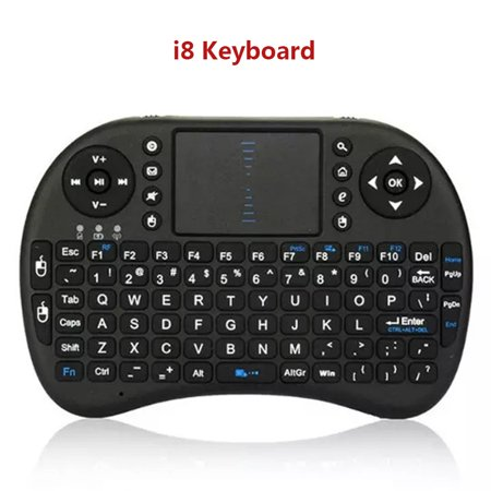 Mini i8 Wireless Qwerty Keyboard Multimedia Remote Control Keys and PC Gaming Control Touchpad Handheld Keyboard for PC Pad Android Smart TV - image 6 of 7