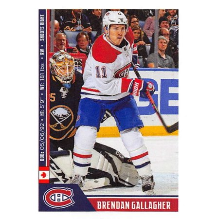 2018-19 Panini NHL Stickers #120 Brendan Gallagher Montreal Canadiens Hockey -