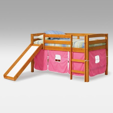 Josie Pink Tent Loft Bed With Slide Walmart Com