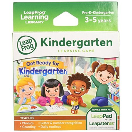 LeapFrog Learning Game: Get Ready for Kindergarten (for LeapPad tablets and LeapsterGS) - Learning Games For Kindergarten