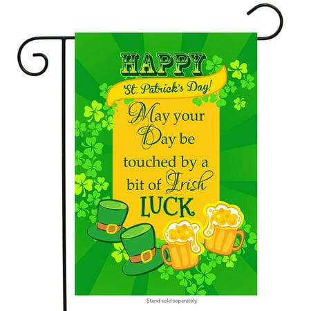 Irish Luck St. Patricks Day Garden Flag Holiday Briarwood Lane 12.5  x 18  Irish Luck St. Patricks Day Garden Flag Holiday Briarwood Lane 12.5   x 18  condition: New Brand: Briarwood LaneMPN: G00299Material: PolyesterSize: 12.5  x 18