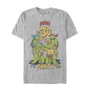 Teenage Mutant Ninja Turtles Men's 30th Birthday Pizza Party T-Shirt
