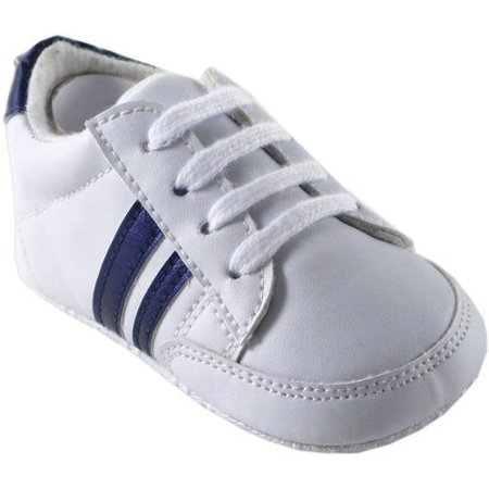 Newborn Baby Boys' and Girls' Basic Stripe Sneakers, Choose Your Color & (Girl Shoe Size To Boy Shoe Size)