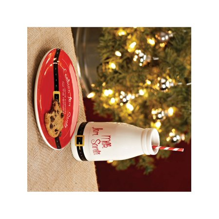 Cookies For Santa Plate & Cup Set Designer Jewelry by Sweet Pea