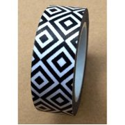 Love My Tapes Washi Tape 15mmX10m-Black & White Geometric Diamonds