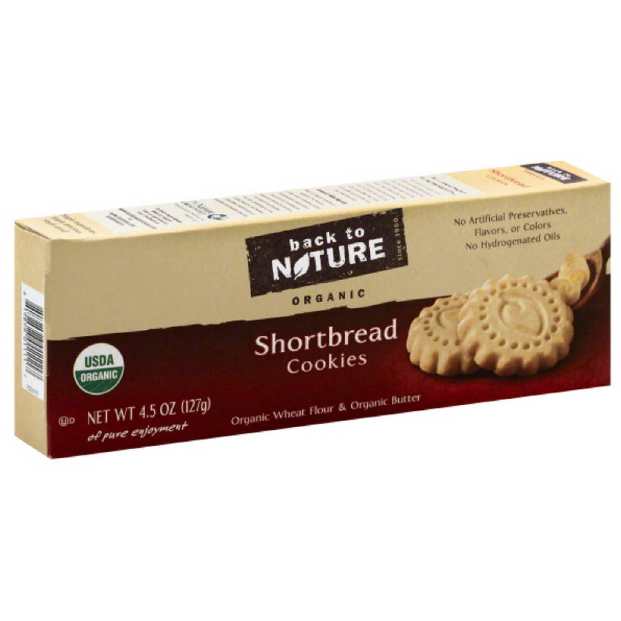 Back to Nature Organic Shortbread Cookies, 4.5 oz, (Pack of 6) by