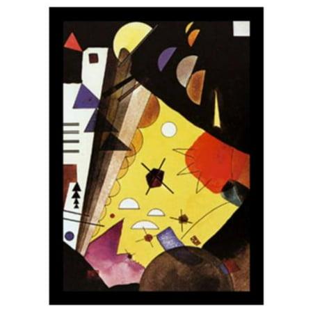 Wassily Kandinsky Artwork - buyartforless Tension in Height (Tension En Hauteur) by Wassily Kandinsky Framed Wall Poster