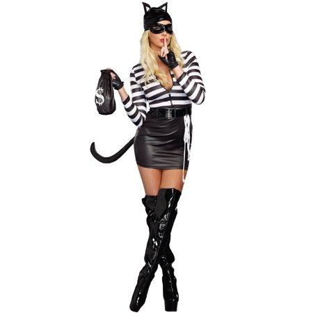 Cat Burglar Women's Adult Halloween Costume - Cat Halloween Costume Ideas Adults
