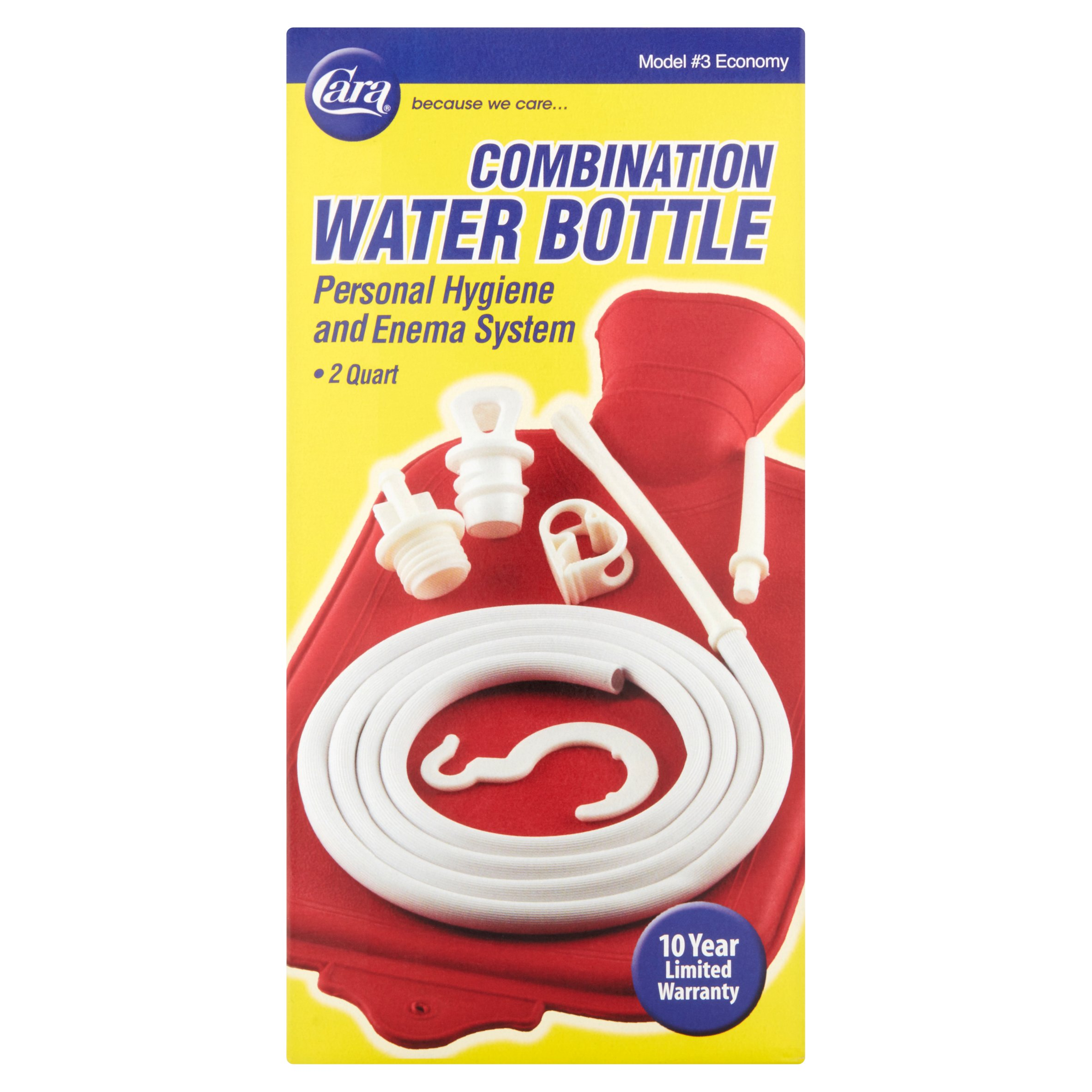 Cara Personal Hygiene And Enema System 2 Quart Combination Water Bottle