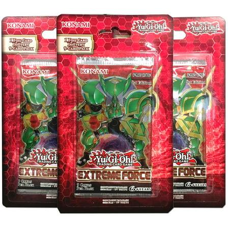 Yu-Gi-Oh! Extreme Force 3 Pack Bundle Trading Cards Yu Gi Oh Mirror Force