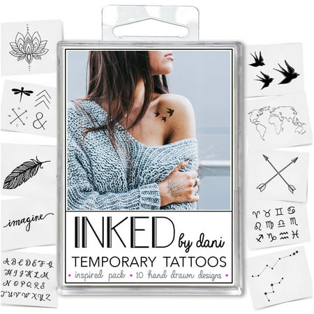 INKED by Dani Inspired Temporary Tattoo Pack