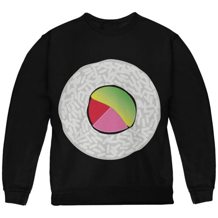 Halloween Sushi Costume 2 Black Youth Sweatshirt - Sushi For Halloween