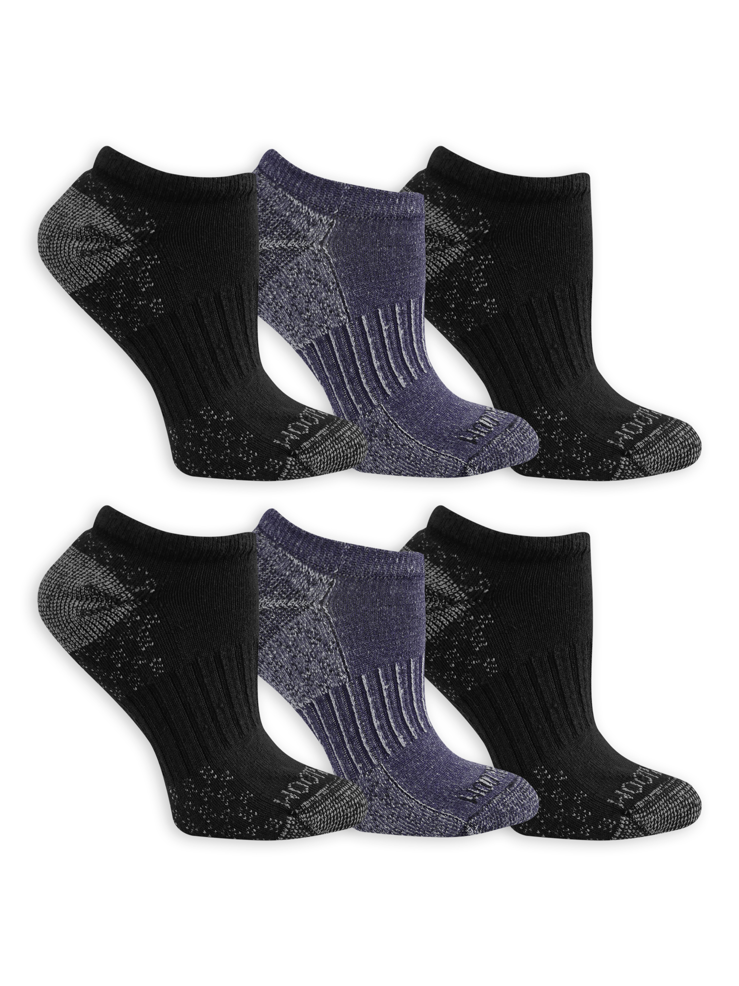 Fruit of the Loom Womens 6 Pack No Show Socks