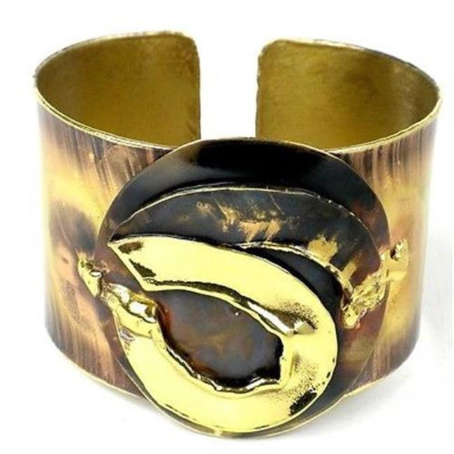 Brass Images Twisted Ribbon of Brass Cuff
