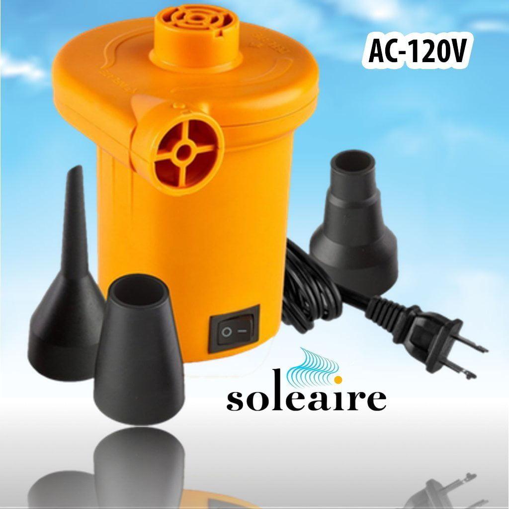 Soleaire Sa 101 120v Electric Air Pump Inflator Deflator Ful Quick Fill Inflatable 120 Volt Boat Inflatables Mattress Ac