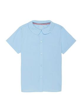 French Toast Girls Plus School Uniform Short Sleeve Modern Peter Pan Collar Blouse (Plus)