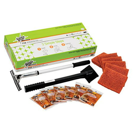 Griddle System (Scotch-Brite Quick Griddle Cleaning System Starter Kit 710 - Easy to Use )
