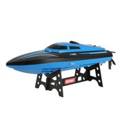 GoolRC Skytech H100 RC Boat - Remote Control Boat for Pools and Lakes, Fast RC Boats for Adults and Kids with 20+ mph Speed Boat, 4 channel 2.4GHZ Remote Control, and Rechargeable Boat Battery (Blue)
