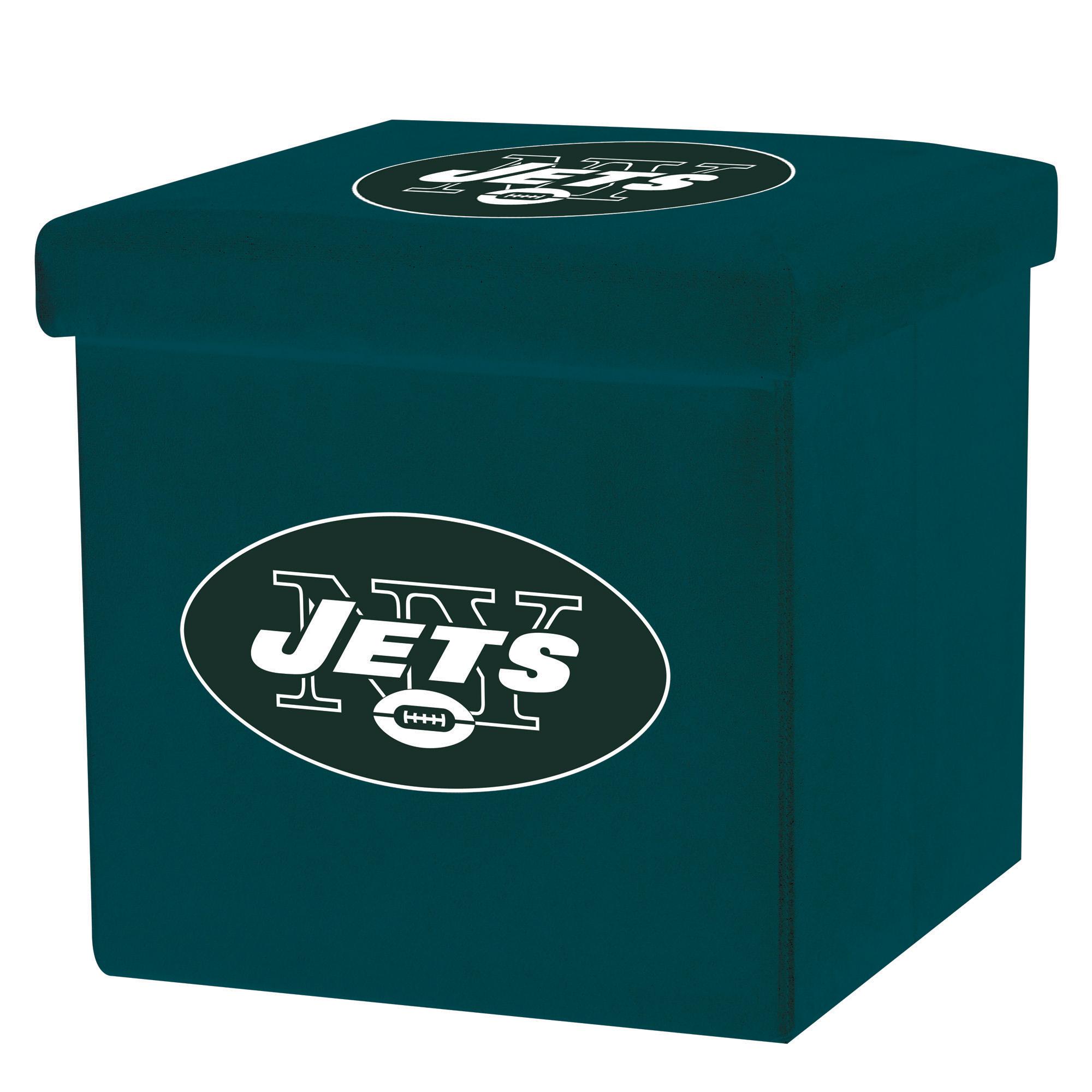 Franklin Sports NFL New York Jets Storage Ottoman with Detachable Lid