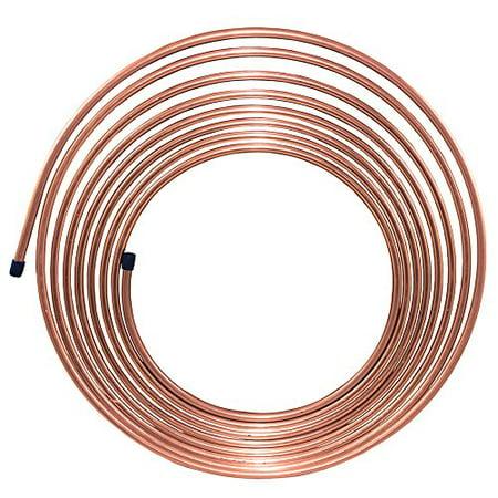 25 ft 5/16 in Brake Line Copper-Nickel Tubing Coil (Easy Bend) ()