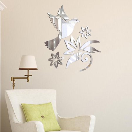 Modern Mirror Style Removable Decal Art Mural Wall Sticker Home Room DIY SL