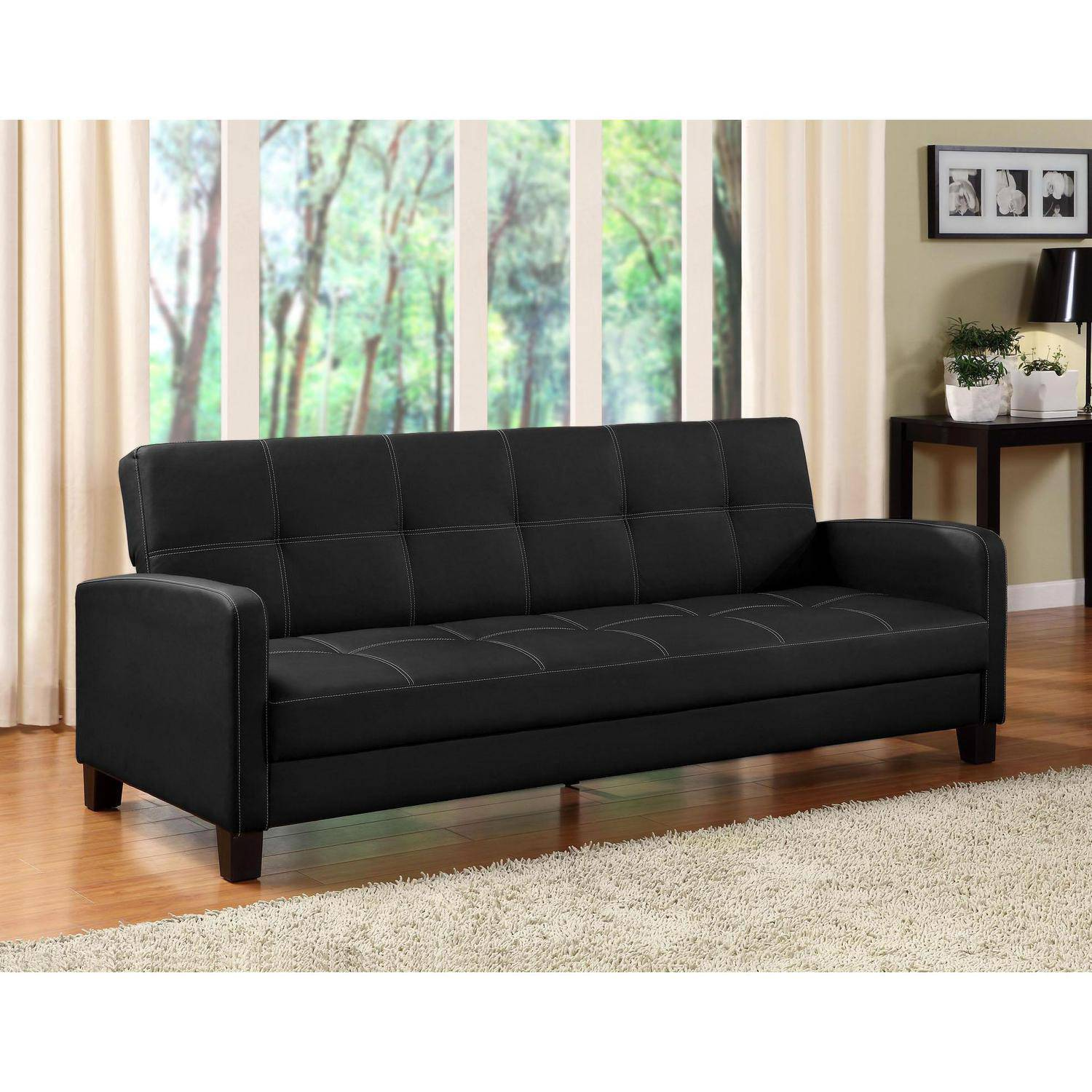 DHP Delaney Futon Couch Sofa Sleeper Multiple Colors Walmartcom