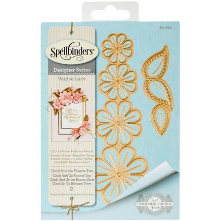 Spellbinders Shapeabilities Dies By Becca Feeken-Venise Lace-Cinch & Go Flowers Two Spellbinders Impressabilities Die