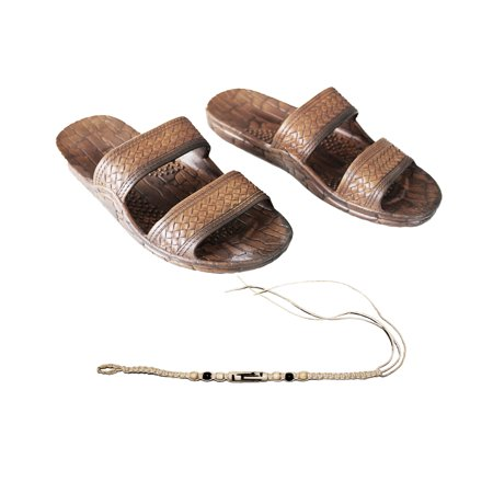 fc42d518f Sandal Hawaii - Hawaii Brown or Black Jesus sandal Slipper for Men Women  and Teen Classic Style With Natural Hemp Bracelet (Women size 11  men size  9