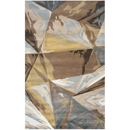 Gatney Rugs Cyclone Area Rugs - VN247A Contemporary Beige Patchwork Abstract Shards Glass Rug