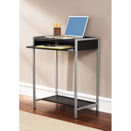 Mainstays Student Writing Desk, Black And Silver  Walmartm. Vertical Drawer Slides. Tj Maxx Table Lamps. Farmer Table. Blu Dot Desk. It Help Desk Work From Home. Universal Furniture Dining Table. Antique White End Table. Modern Drawer Knobs