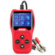 Ancel BA201 12V Car Battery Tester Analyze 100 to 2000CCA Test Battery Health Quick Cranking Charging Diagnostic Tools PK KW600, Red