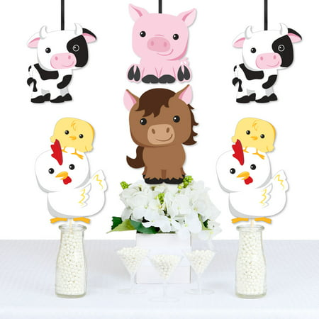 Farm Animals - Cow, Horse, Pig and Chicken Decorations DIY Baby Shower or Birthday Party Essentials - Set of 20](Horse Theme Party Supplies)